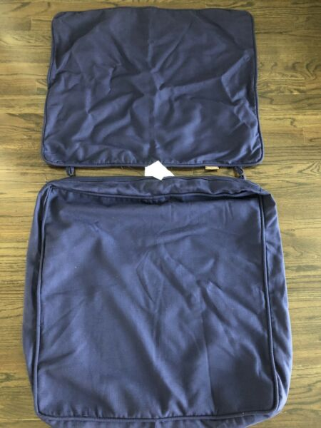 Allen Roth Outdoor Cushion Covers. 3 Sets Navy Blue JUST CUSHION COVERS $30.00
