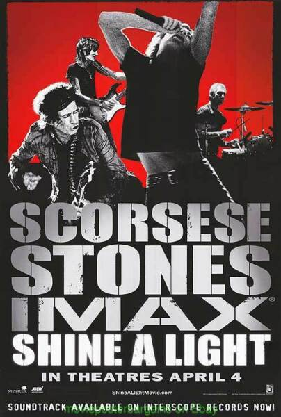 SHINE A LIGHT MOVIE POSTER Original IMAX SS 27x40 THE ROLLING STONES Documentary