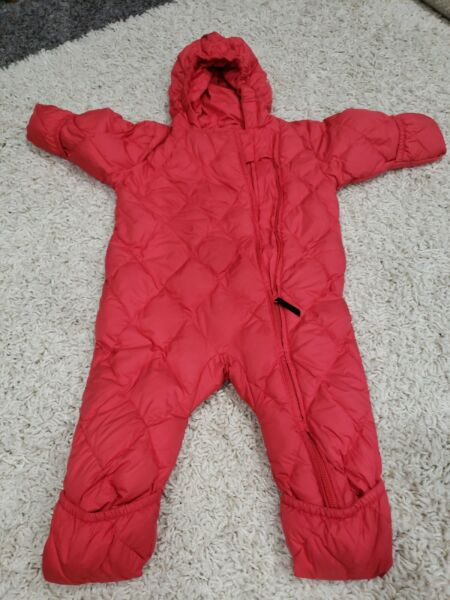 Lands End Baby 12 Months Girl Down Filled Puffer Snowsuit Bunting Coat Jacket...