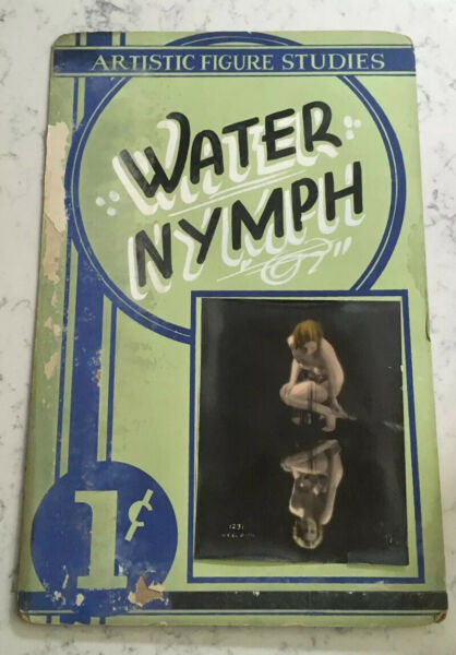 ANTIQUE RISQUE PENNY COIN OP MUTOSCOPE ARCADE PEEP SHOW SIGN WATER NYMPH POSTER
