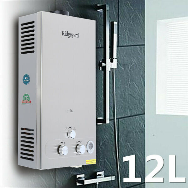 Hot Water Heater 12L Propane Gas LPG Tankless 3.2GPM Instant Boiler Outdoor FB $84.99