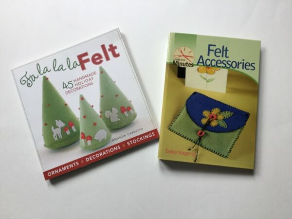 2 Books on Handmade FELT Accessories and Decorations $15.80