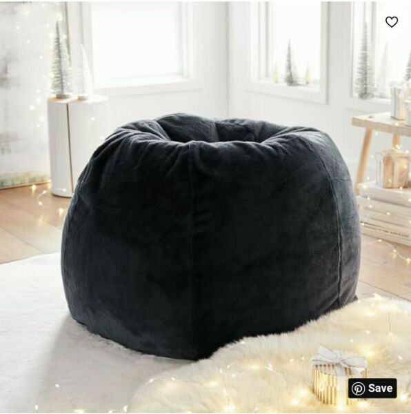 "Pottery Barn Teen Large Iced Faux Fur Beanbag Cover Periscope 42.5""x34.87"" NEW $73.00"