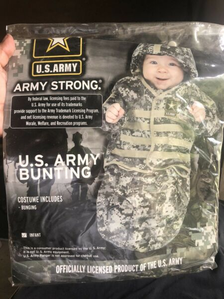 US Army Strong Infant Bunting Halloween Costume New in Package