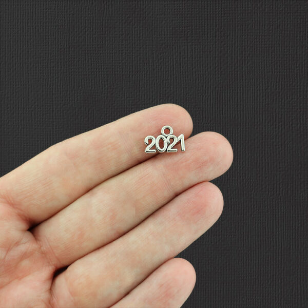 20 Year 2021 Antique Silver Tone Charms SC5268