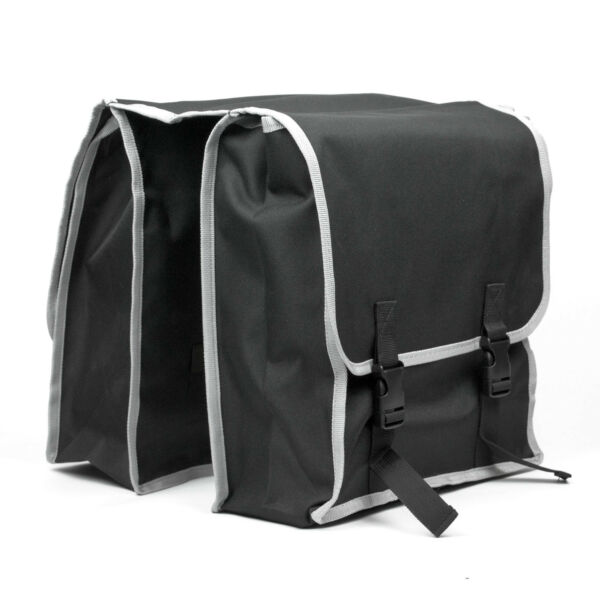 LARGE DOUBLE BIKE BICYCLE REAR RACK PANNIER BAG WATER RESISTANT CYCLE CARRIER UK GBP 14.97