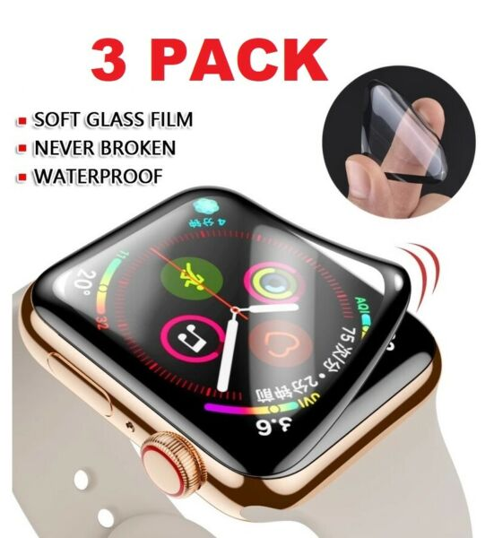 3 Pack For Apple Watch 6 5 4 3 2 SE Full Screen Protector iWatch 38 42 40 44mm $4.95