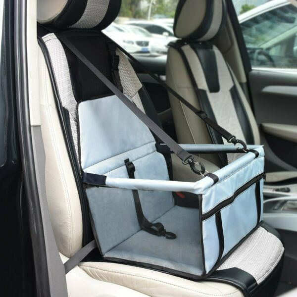 Folding Pet Dog Car Seat Cover Carrier Basket Safety Protector w Zipper Pocket $15.98