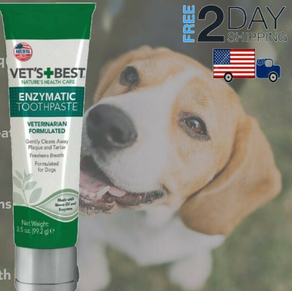 Natural Dog Teeth Cleaning And Fresh Breath Dental Care Gel Vet Formulated Pet $4.99