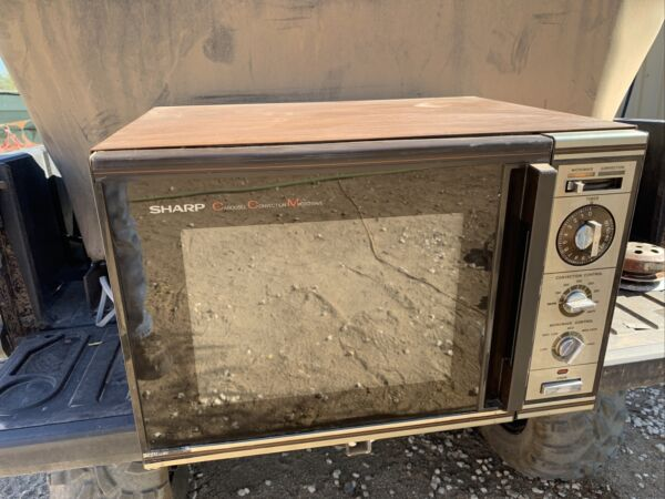 Vintage Sharp Carousel Convection Microwave Oven R 8010 WORKS RARE