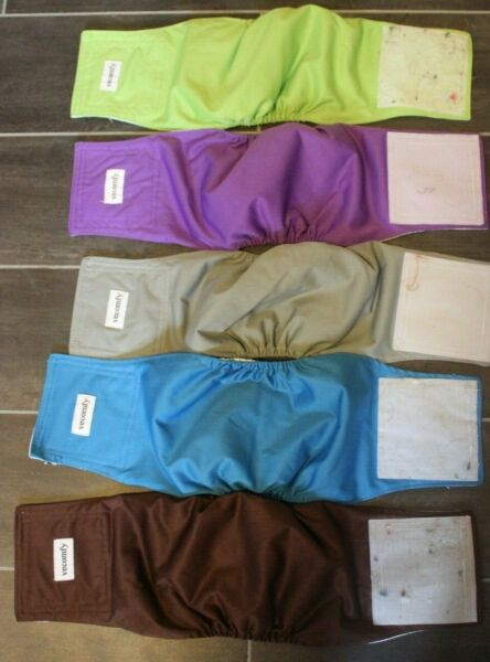 Vecomfy Belly Bands for Male Dogs 5 Pack Washable Reusable Medium Dog Bands $26.95