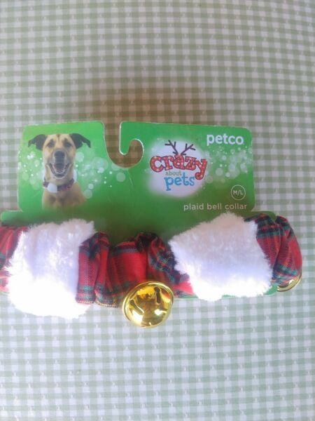 Plaid Christmas Collars For Dogs. W Bells $6.95
