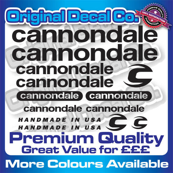 Premium Quality New Cannondale Bike Stickers Decals mountain bike frame forks GBP 9.99
