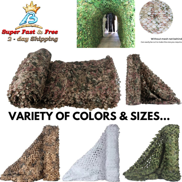 Camo Netting Blinds Sunshade For Camping Hunting Military Army Net Decoration