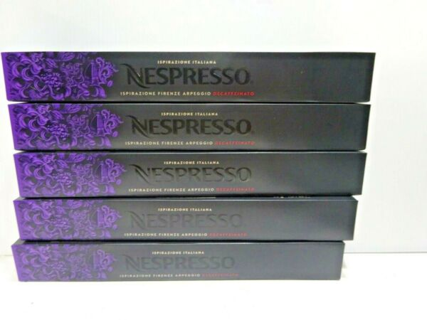 Nespresso 50 Capsules Original Arpeggio Decaffeinato Dark Roast Coffee EXP 06 21