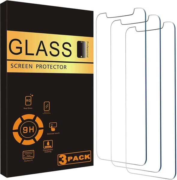 For iPhone 12 11 Pro Max XR X XS Max 8 7 Tempered GLASS Screen Protector 3 PACK