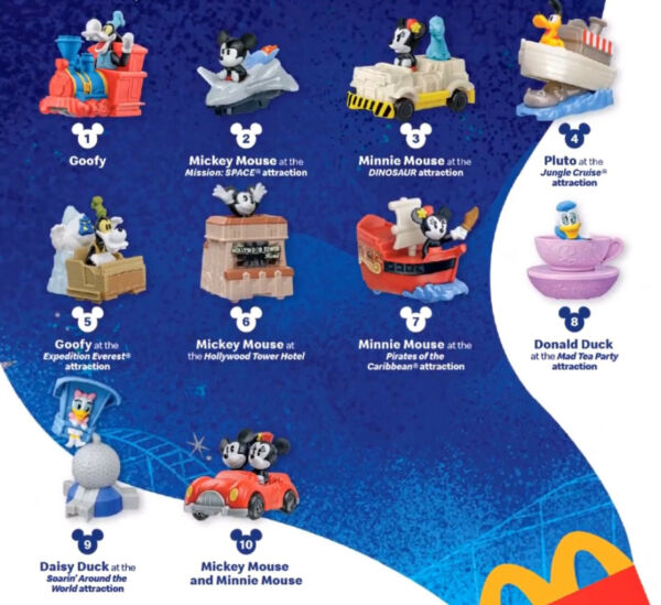 2020 McDONALD#x27;S Disney Mickey Minnie#x27;s Runaway Railway HAPPY MEAL TOYS Or Set $19.99
