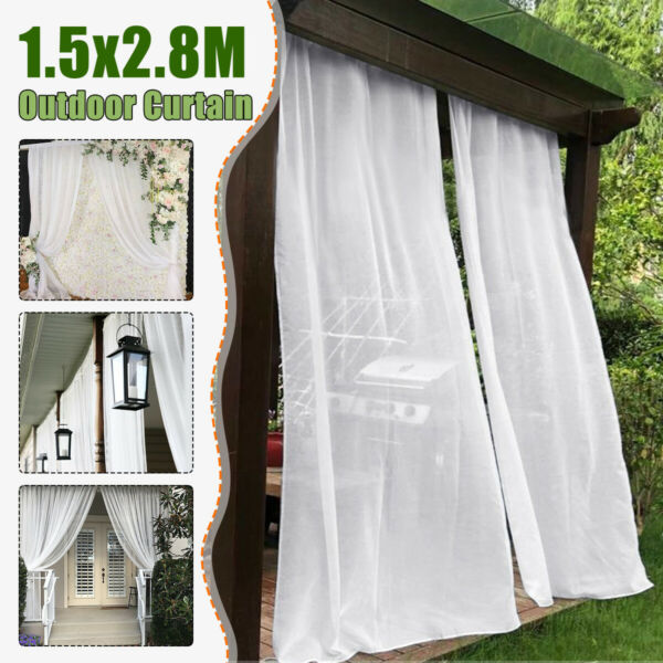Outdoor Curtain Panel Wedding Bathroom Garden Pergola Mosquito Netting Polyester