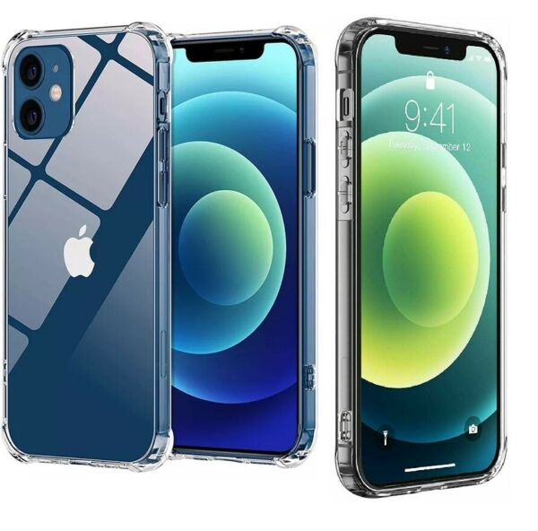 For Apple iPhone 12 11 Pro 7 8 Plus X XR XS MAX SE 12 Mini Shockproof Clear Case $5.95