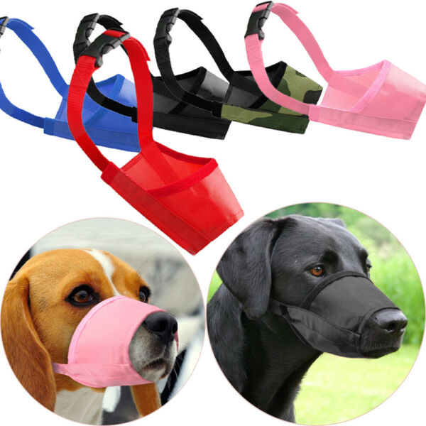 Dog Safety Muzzle Pet Accessories Puppy Mouth Control Head Collar Halter $2.09