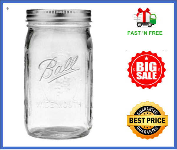 Single MASON JAR Ball 32 Oz Wide Mouth Canning Lids For Canning