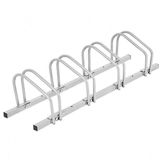 4 Bike Parking Garage Rack Storage Stand Silver $60.82