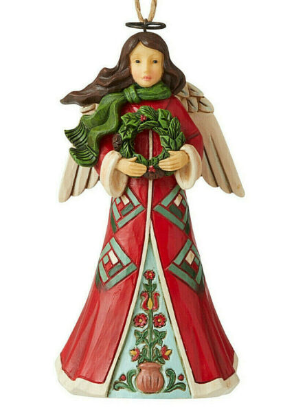 Jim Shore*RED amp; GREEN ANGEL with WREATH ORNAMENT*New 2020*NIB*Christmas*6006681