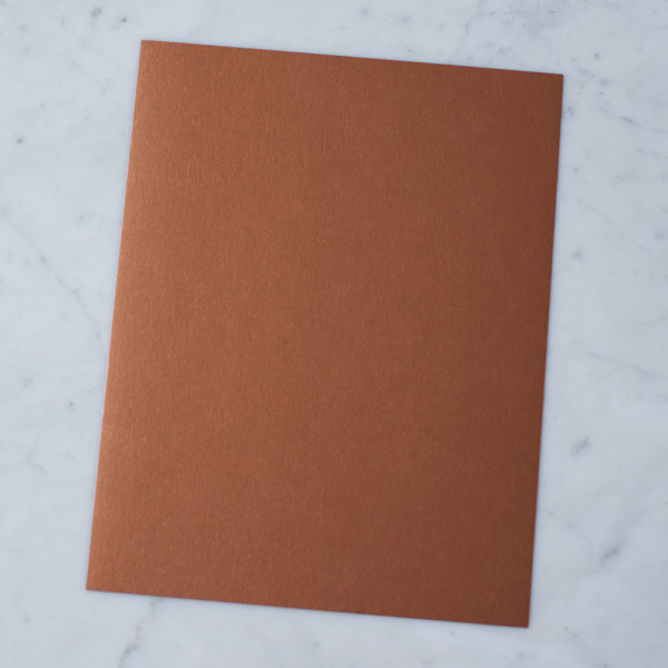 50 Sheets Stardream Metallic 8.5X11 Card Stock Paper COPPER 105lb Cover