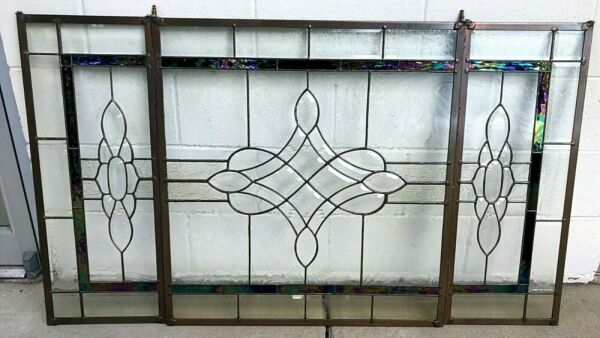 Vintage fire screen Stained Glass Carnival Glass Iridill Glass