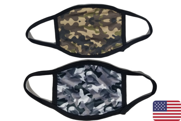 Camo Arctic Camo Face Mask Washable Reusable with Filter Pocket