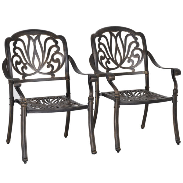 Patio Chairs Dining Chairs Set of 2 Wrought Iron Patio Furniture Outdoor Chair $159.99