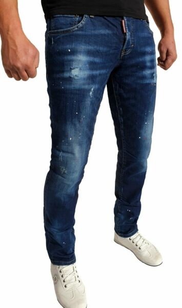 DSQUARED2 MILANO blue jeans mens nice one fashionable slim fit few sizes 593 $87.00