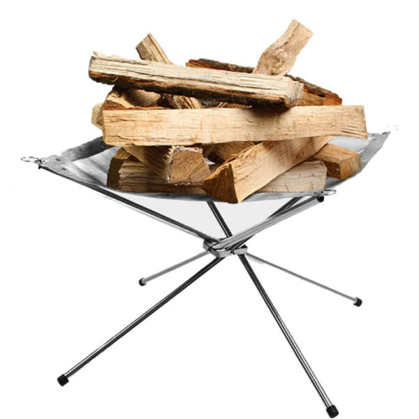 Outdoor Stove Burning Fire Portable Folding wood Heating Furnace Winter Camping $39.99
