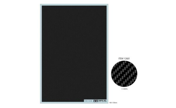 Tamiya 12681 Carbon Pattern Decal Twill Weave Fine For 1 12 1 24 Scale Model Car $6.40