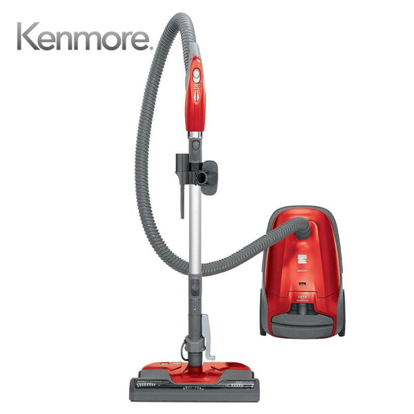 Kenmore 81414 400 Series Lightweight Bagged Canister Vacuum W HEPA Filter Red