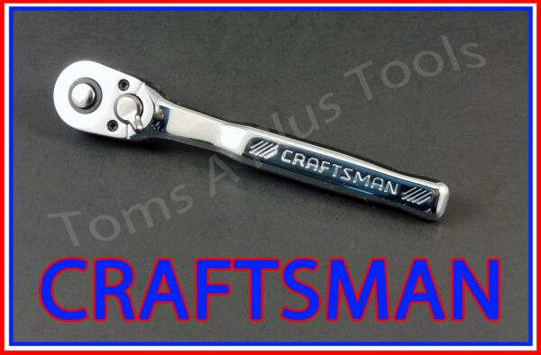 CRAFTSMAN TOOLS 1 4quot; FULL POLISH 72 Tooth Quick Release Ratchet Socket Wrench
