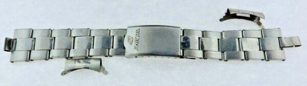 Vintage Rare Enicar Riveted Watch Band for Divers Swiss Stainless for Repair