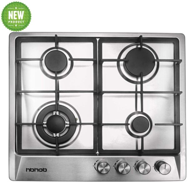 24quot; inches Gas Cooktop Tempered Glass Built in Gas Stove 4 Burners Gas Stoves