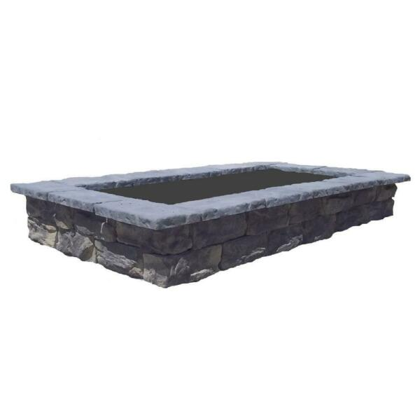 Concrete Planter Garden Raised Bed Outdoor Rectangular Fossil Limestone 107 in $890.99