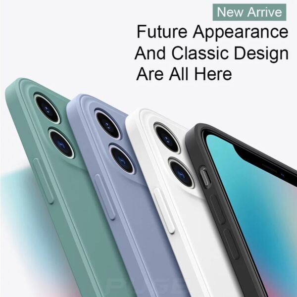 Liquid Silicone Case Camera Lens Cover For iPhone 12 11 Pro XS Max XR X 8 7 Plus $5.75