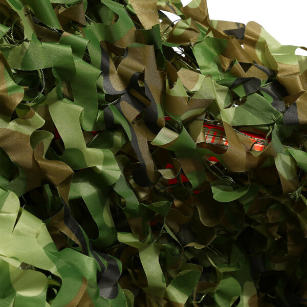 Lightweight Camouflage Camo Netting Net Camping Hunting Woodland Leaves Fabric