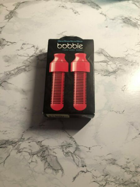 PINK BOBBLE WATER FILTERS X2