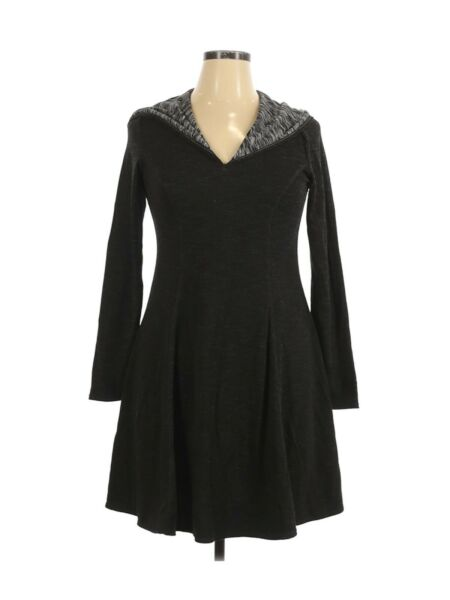 Max Studio Weekend Women#x27;s Gray Tunic Hooded A Line Sweater Dress Size Large $19.99