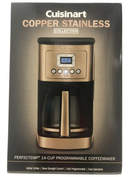 CUISINART 14 Cup Programmable Coffee Maker Copper Stainless