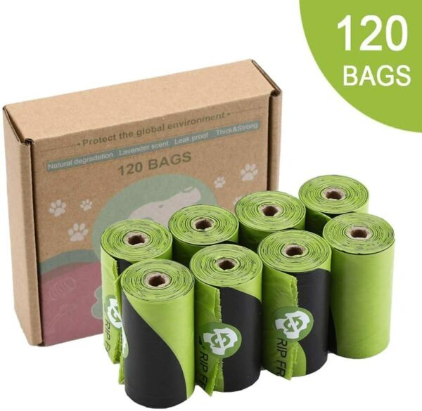 Dog Poop Bags Strong Pet Dog Waste Bags Dog Bags Leak Proof Eco Friendly 120pcs $9.99
