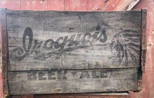 Vintage Antique Wooden Iroquois Co. Beer Crate 4433