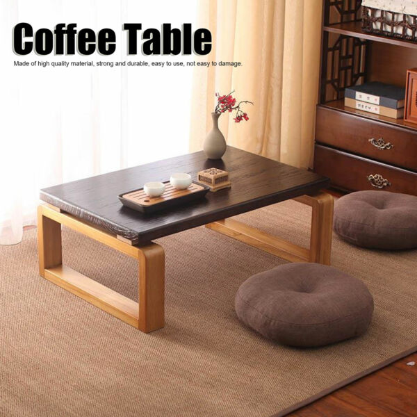 23quot; Coffee Table Wood Tray Folding Leg Vintage Antique Japanese Style Furniture
