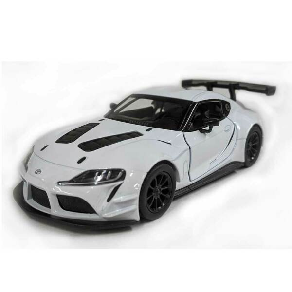 5quot; Die cast: 2020 Toyota GR Supra Racing Concept White 1 36 Scale