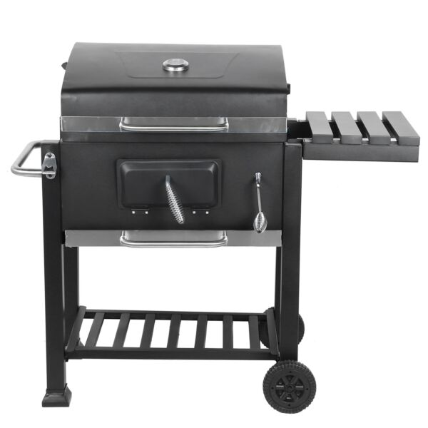 40#x27;#x27; Outdoor BBQ Charcoal Grill Smoker Barbecue Pit Patio Backyard Meat Cooker