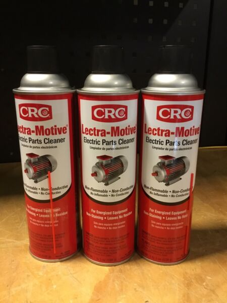 CRC 05018 Lectra Motive Electric Parts Cleaner 19 wt. oz. 3 Pack Of Cans $18.99